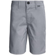 Hurley One and Only Chino Shorts (For Boys) in Cool Grey - Closeouts