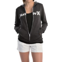 Hurley One & Only Fleece Hoodie - Full Zip, Slim Fit (For Women) in Black - Closeouts