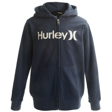 Hurley One and Only Hoodie - Full Zip (For Boys) in Navy