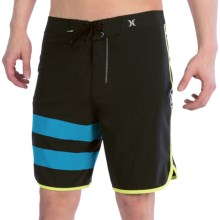 Hurley Phantom Block Party Boardshorts (For Men) in Black Multi - Closeouts