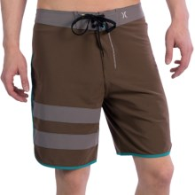 Hurley Phantom Block Party Boardshorts (For Men) in Citadel Brown - Closeouts