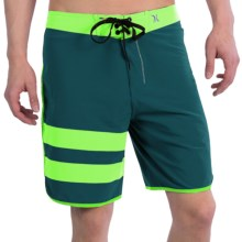 Hurley Phantom Block Party Boardshorts (For Men) in Teal - Closeouts