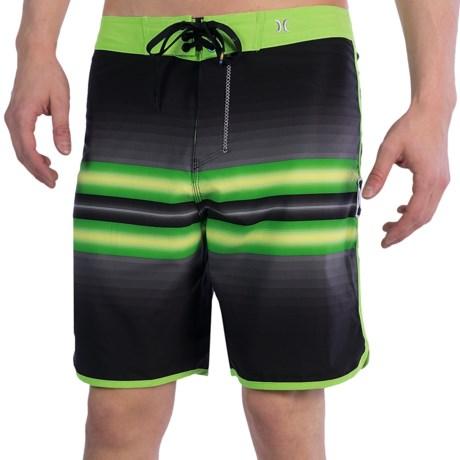 Hurley Phantom Block Party Warp 2.0 Boardshorts (For Men) in Black/Neon Green