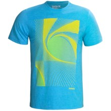 Hurley Portal T-Shirt - Short Sleeve (For Men) in Heather Cyan - Closeouts