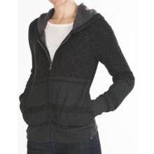 Hurley Retreat Zip Hoodie Sweatshirt (For Women) in Heather Black - Closeouts