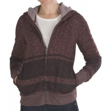 Hurley Retreat Zip Hoodie Sweatshirt (For Women) in Heather Mahogany - Closeouts