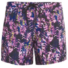 Hurley Saltwater Boardshorts - Recycled Polyester (For Women) in Black - Closeouts