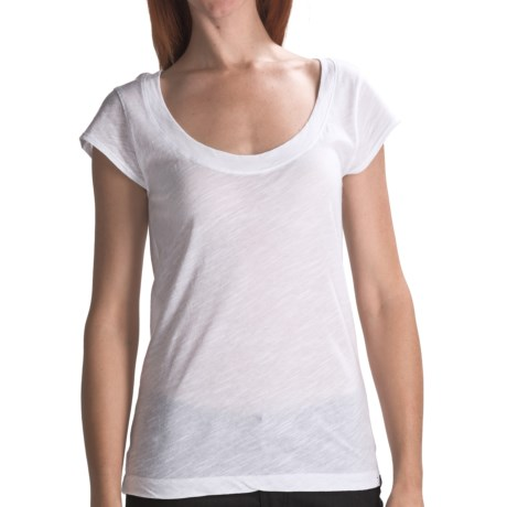 Hurley Scoop Neck T-Shirt - Short Sleeve (For Women) in White