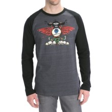 Hurley Screaming Eye T-Shirt - Long Sleeve (For Men) in Cinder - Closeouts