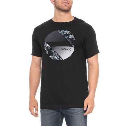 Hurley Sidewall T-Shirt - Short Sleeve (For Men) in Black - Closeouts