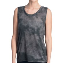Hurley Solid Biker Cloud Tank Top - Crew Neck (For Women) in Black - Closeouts