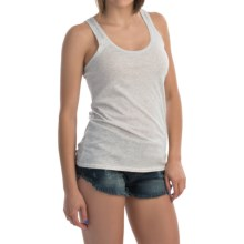 Hurley Solid Perfect Classic Tank Top - Racerback (For Women) in Light Heather Grey - Closeouts