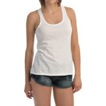 Hurley Solid Perfect Classic Tank Top - Racerback (For Women) in White - Closeouts