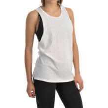 Hurley Solid Riot Biker Tank Top (For Women) in White - Closeouts