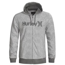 Hurley Stratus Hoodie Sweatshirt - Full Zip (For Men) in Heather Ash Grey - Closeouts