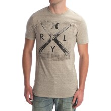 Hurley Switch Beats T-Shirt - Short Sleeve (For Men) in Heather Sand - Closeouts