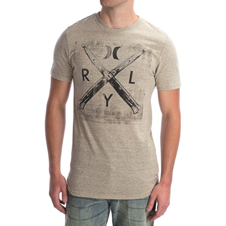 Hurley Switch Beats T-Shirt - Short Sleeve (For Men) in Heather Sand