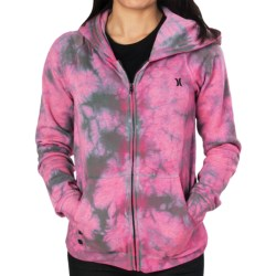 Hurley Winter Break Hoodie Sweatshirt (For Women) in Heather Black