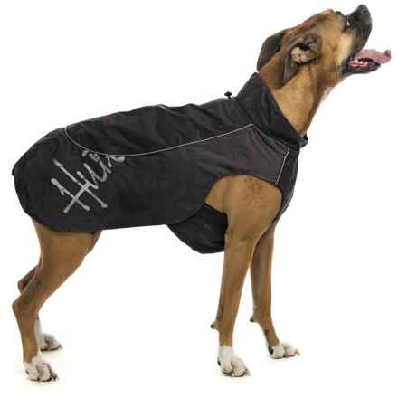 Hurtta Adjustable Raincoat For Dogs in Black - Closeouts