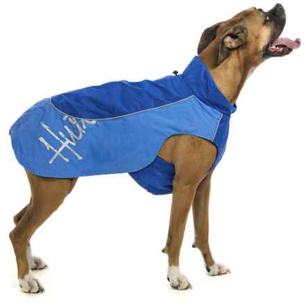 Hurtta Adjustable Raincoat For Dogs in Blue - Closeouts
