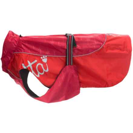 Hurtta Adjustable Raincoat For Dogs in Red - Closeouts