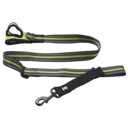 Hurtta Free Hand Adjustable Medium Dog Leash - 3-5' in Birch - Closeouts