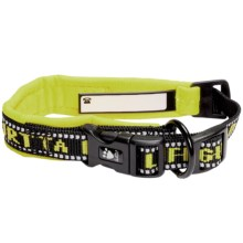 Hurtta Padded Dog Collar in Yellow - Closeouts