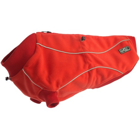 Hurtta Waterproof Fleece Jacket for Dogs in Red