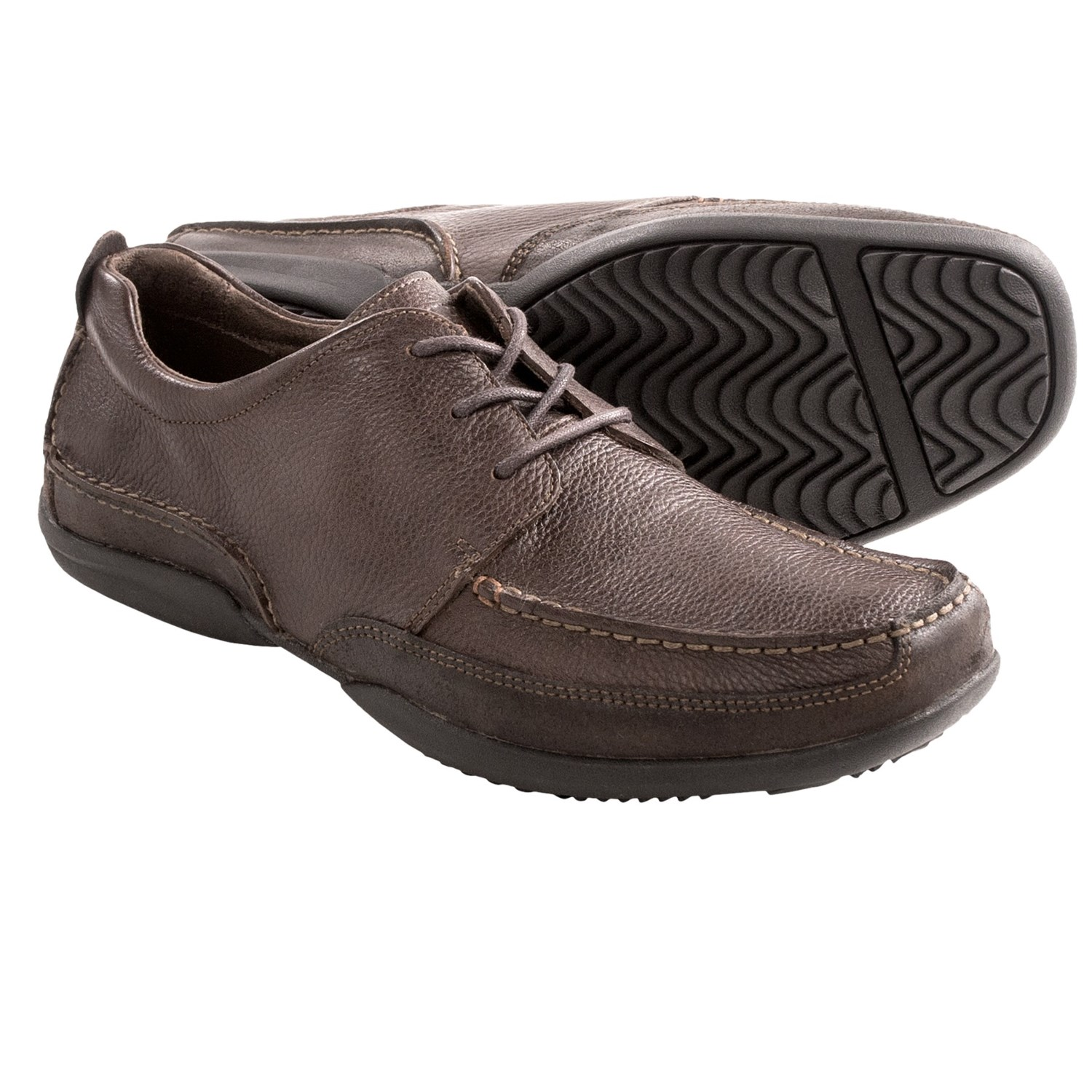 Hush Puppies Accel Oxford Shoes - Moc Toe (For Men) in Dark Brown