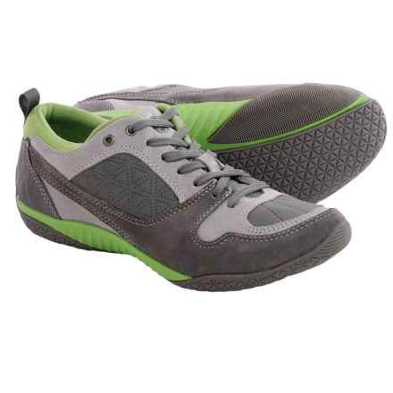Hush Puppies Adler Zelder Shoes - Suede (For Women) in Cool Grey Leather - Closeouts