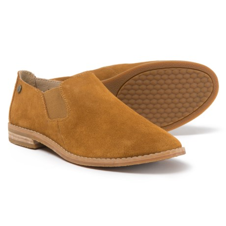 Hush Puppies Analise Clever Slip-On Shoes - Suede (For Women) in Camel Suede