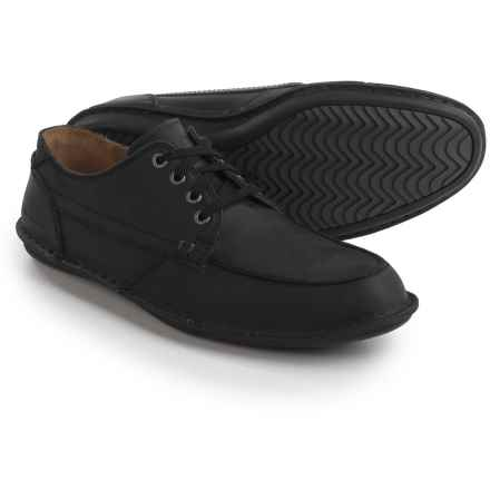Hush Puppies Arvid Roll Flex Shoes - Leather (For Men) in Black Leather - Closeouts