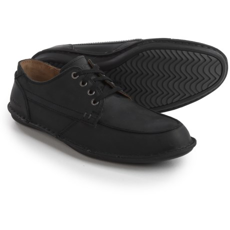 Hush Puppies Arvid Roll Flex Shoes - Leather (For Men) in Black Leather