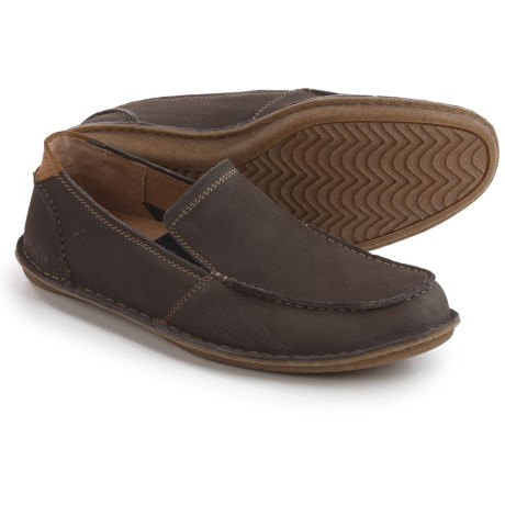 Hush Puppies Asil Roll Flex Loafers - Leather (For Men) in Grey Nubuck
