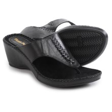 Hush Puppies Aven Copacabana Wedge Sandals - Leather (For Women) in Black Leather - Closeouts