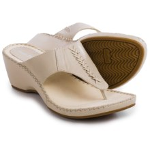 Hush Puppies Aven Copacabana Wedge Sandals - Leather (For Women) in Off White Leather - Closeouts
