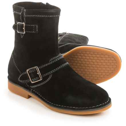 Hush Puppies Aydin Catelyn Boots - Suede, Side Zip (For Women) in Black Suede - Closeouts