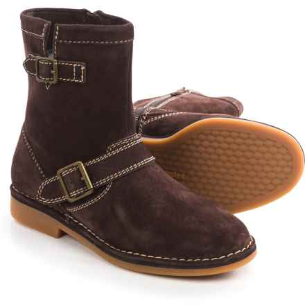 Hush Puppies Aydin Catelyn Boots - Suede, Side Zip (For Women) in Chocolate Suede - Closeouts