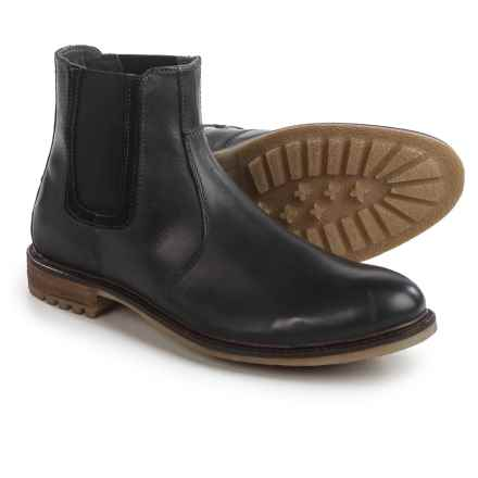 Hush Puppies Beck Rigby Chelsea Boots - Leather (For Men) in Black - Closeouts