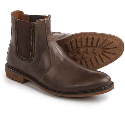 Hush Puppies Beck Rigby Chelsea Boots - Leather (For Men) in Dark Brown - Closeouts