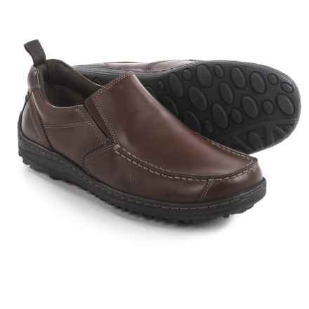 Hush Puppies Belfast Shoes - Leather, Slip-Ons (For Men) in Brown Leather - Closeouts