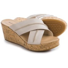 Hush Puppies Belinda Durante Wedge Sandals - Leather (For Women) in Off White Leather - Closeouts
