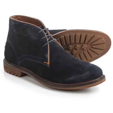 Hush Puppies Benson Rigby Chukka Boots - Suede (For Men) in Navy Suede - Closeouts