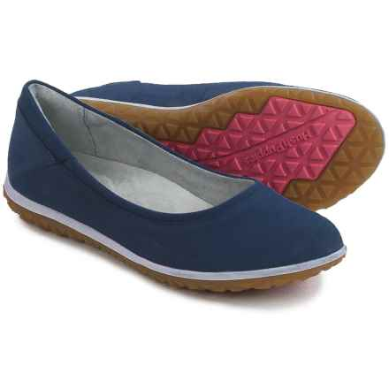 Hush Puppies Berkleigh Audra Flats - Nubuck (For Women) in Navy Nubuck - Closeouts