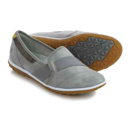 Hush Puppies Bessie Audra Flats - Leather (For Women) in Smoke Nubuck - Closeouts
