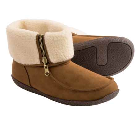 Hush Puppies Bitterroot Zip Slipper Boots (For Women) in Chestnut - Closeouts