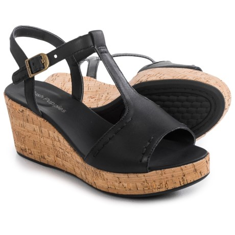 Hush Puppies Blakely Durante Wedge Sandals Leather (For Women)