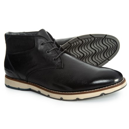 f5828fdf63ba Hush Puppies Breccan Hayes Chukka Boots - Leather (For Men) in Black