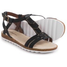 Hush Puppies Bretta Jade Sandals - Leather (For Women) in Black Leather - Closeouts