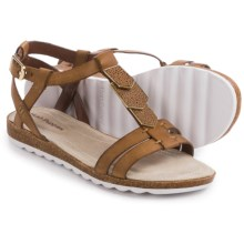 Hush Puppies Bretta Jade Sandals - Leather (For Women) in Tan Leather - Closeouts